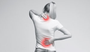 woman back neck pain