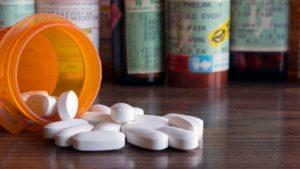 bottle of opioids for chronic pain in Richardson