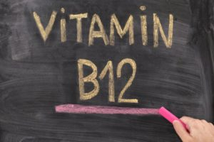 vitamin B12 written in chalk