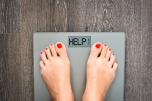 scale indicating the need for medical weight loss in Richardson